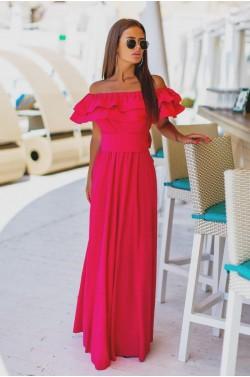 Платье Рюша двойная 83